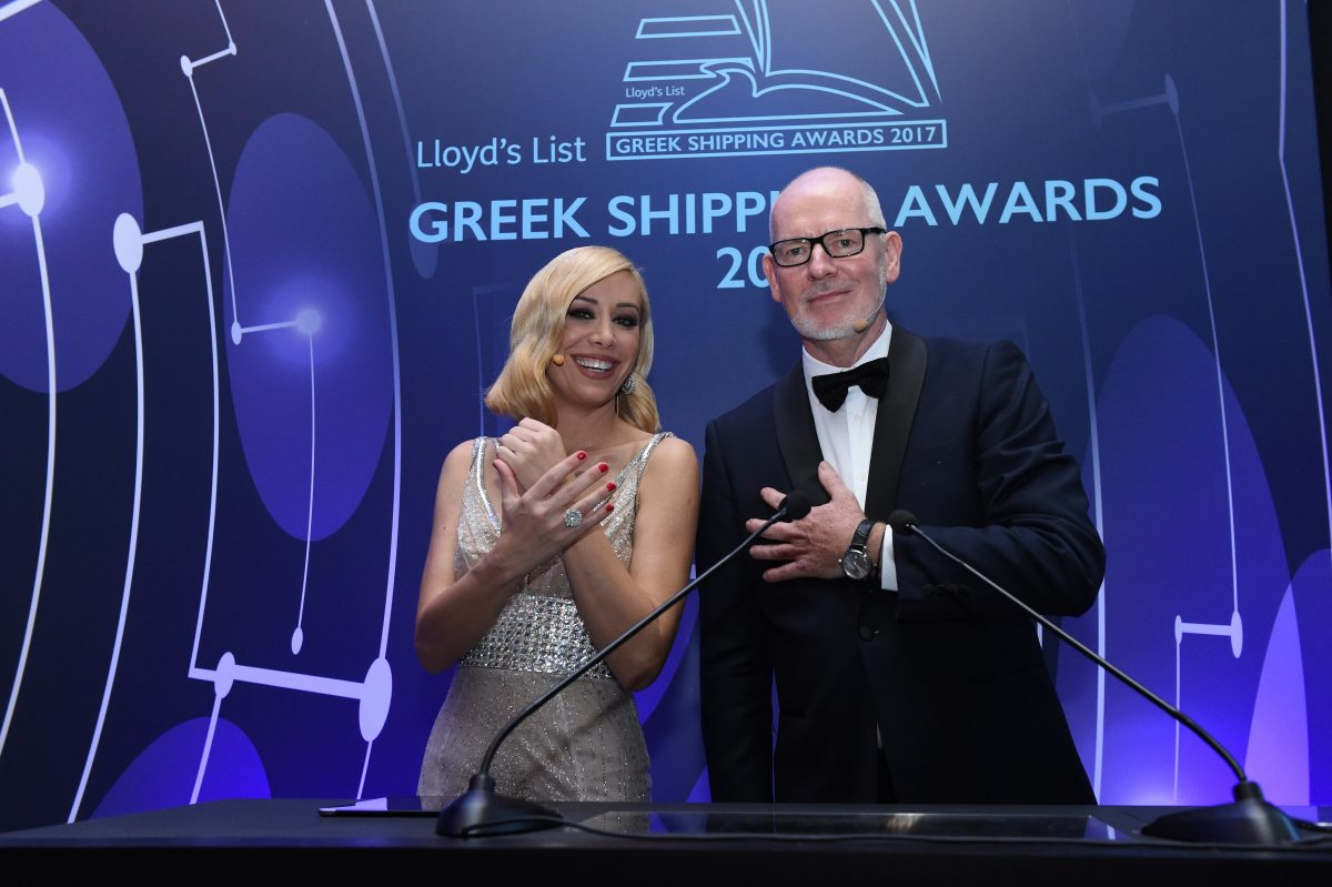 Co-hosts for the 2017 Greek Shipping Awards were Andriana Paraskevopoulou and Nigel Lowry.